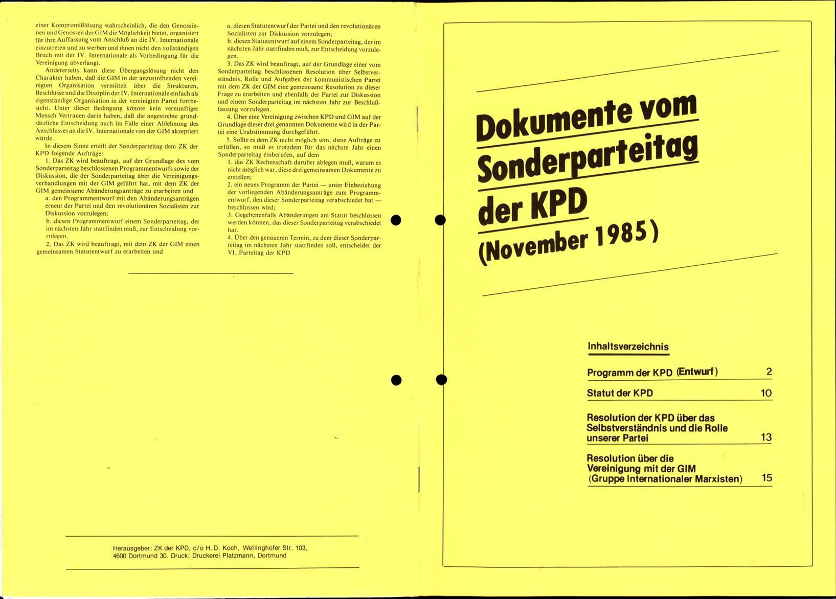 KPDML_1985_Dokumente_vom_Sonderparteitag_01