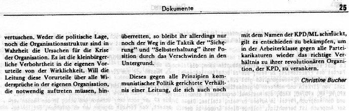 Linkssektierertum (aus: Wahrheit, Nr. 1, Januar 1973)
