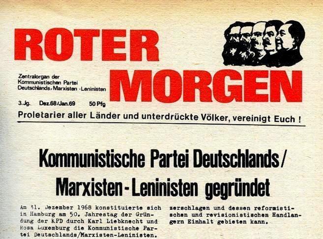 Roter Morgen, Dezember 1968/Januar 1969