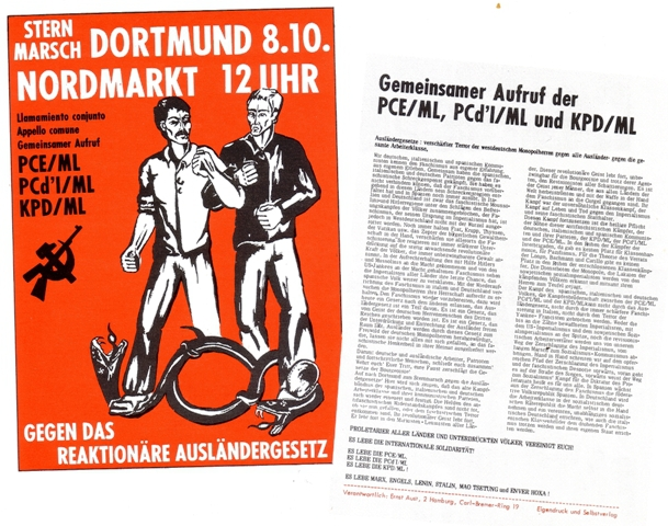 Plakat und Gemeinsame Erklärung
