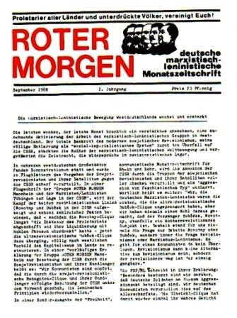 Roten Morgen, 2. Jg., September 1968