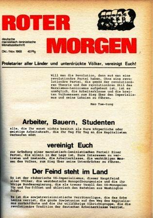 Roter Morgen, Okt./Nov. 1968