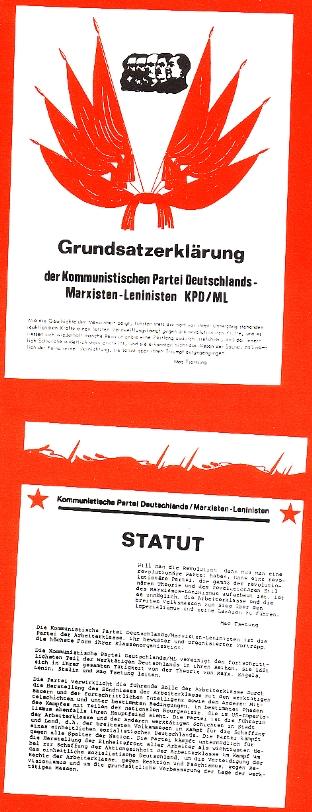 Gründungsdokumente: Grundsatzerklärung und Statut