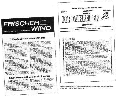 Die ersten marxistisch_leninistischen (maoistischen) Betriebszeitungen, die vor der Gründung der KPD/ML erschienen sind.