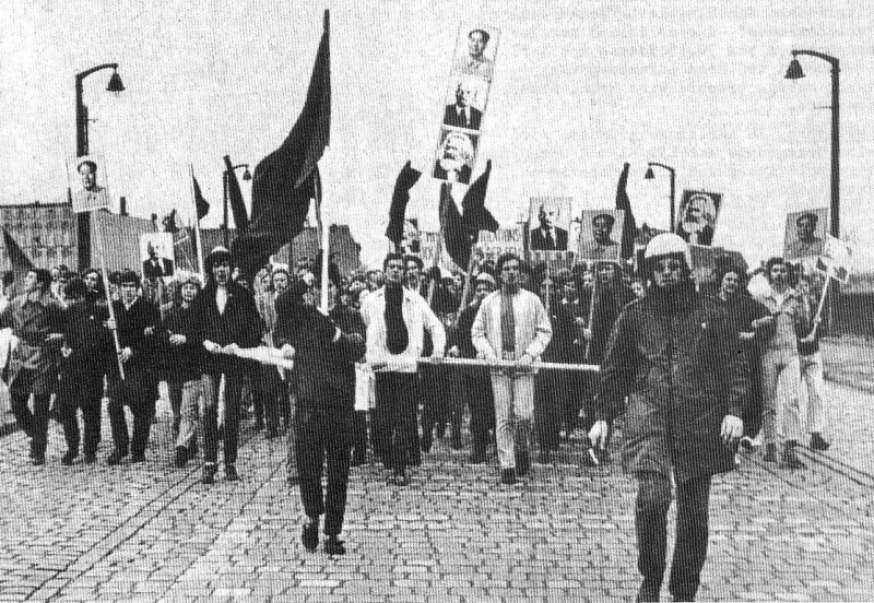 Der Block der Rorgardisten auf der 1._Mai_Demonstration in Westberlin 1969