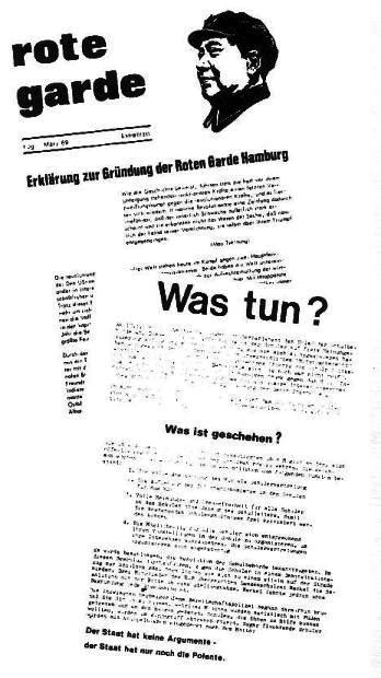 Extrablatt der Roten Garde Hamburg zu ihrer Gründung an die SchülerInnen (1 Jg., März 1969, Extrablatt)
