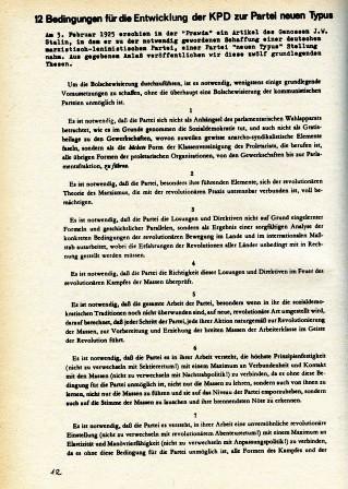 Artikel: 12 Bedingungen ... In: Roter Morgen, Dezember 1968/Januar 1969 , S. 12f.