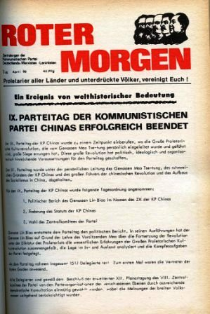 Roter Morgen, 3. Jg., April 1969, Titelseite