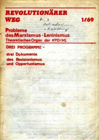 Revolutionärer Weg 1/69 (weiße Ausgabe)