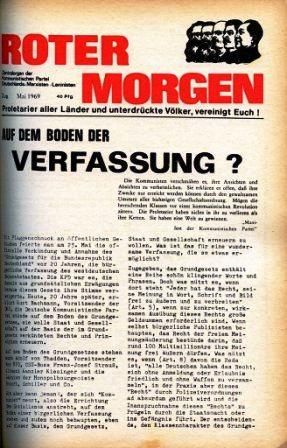 Roter Morgen, 3. Jg., Mai 1969, Titelseite
