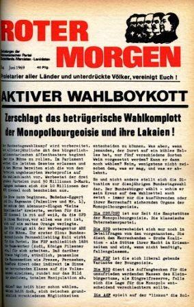 Roter Morgen, 3. Jg., Juni 1969, Titelseite