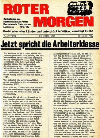 Roter Morgen, September 1969