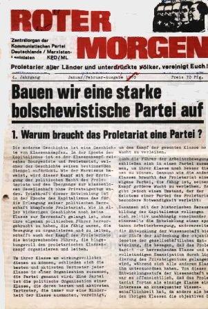 Roter Morgen, Januar/Februar_Ausgabe 1970
