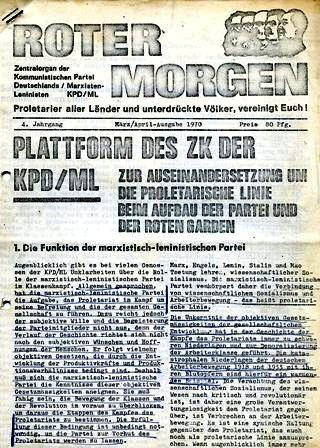 Plattform des ZK der KPD/ML