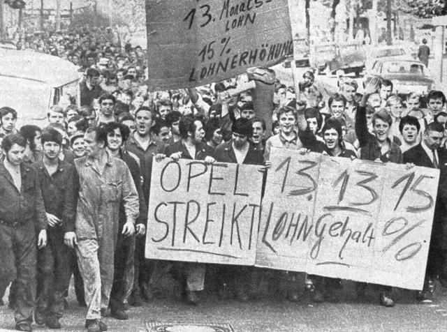 Streik bei Opel 1970