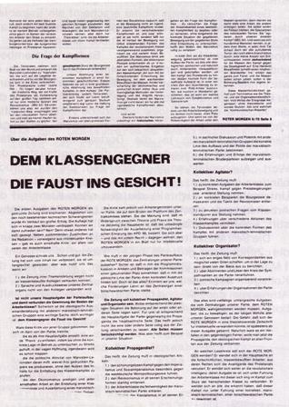 Aus: Roter Morgen 8/1970