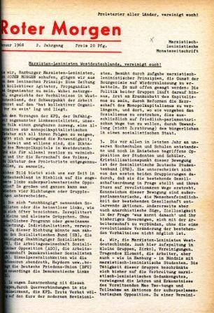 Roter Morgen, 2. Jg., Januar 1968