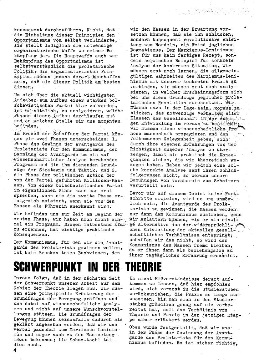 Roter Morgen, 4. Jg., Januar/Februar 1970, Seite 4