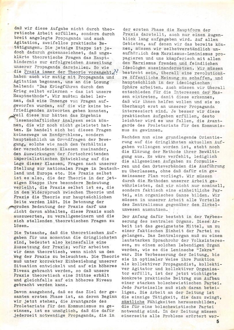 Roter Morgen, 4. Jg., Januar/Februar 1970, Seite 5