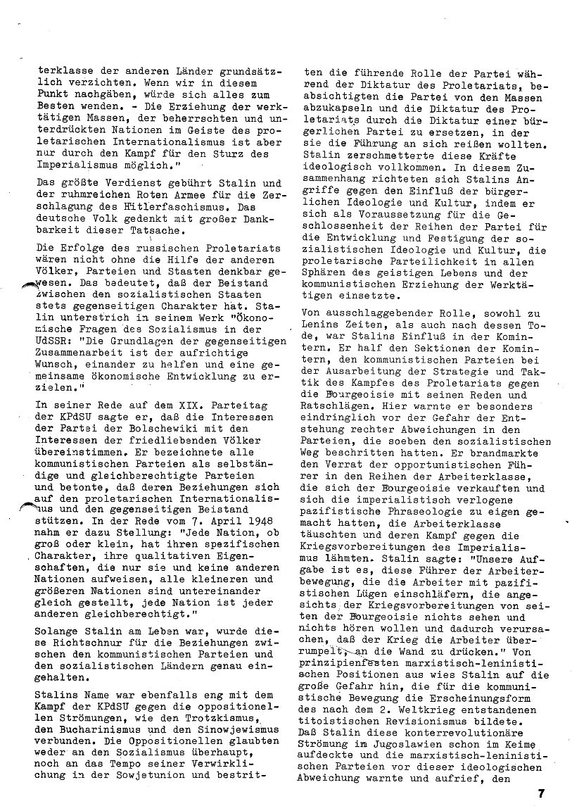 Roter Morgen, 4. Jg., Januar/Februar 1970, Seite 7