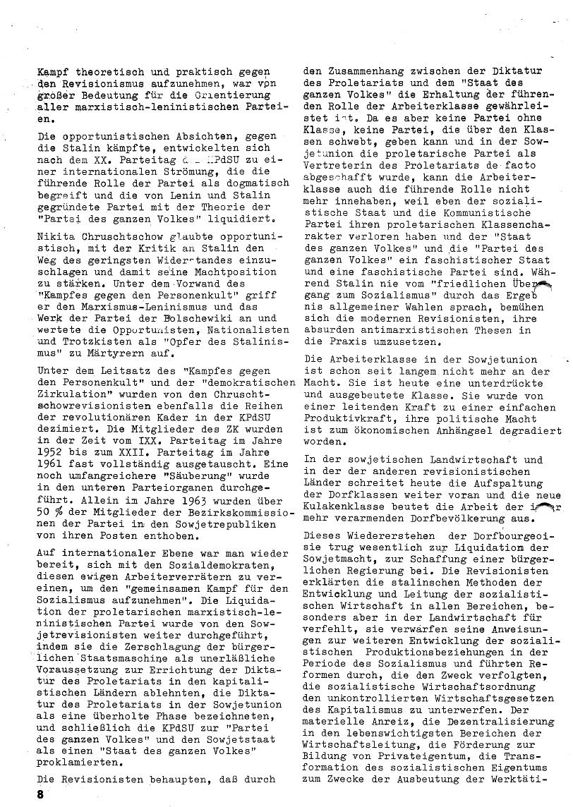 Roter Morgen, 4. Jg., Januar/Februar 1970, Seite 8