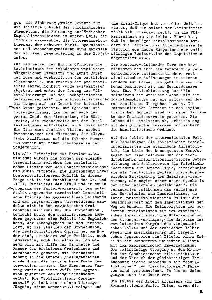 Roter Morgen, 4. Jg., Januar/Februar 1970, Seite 9