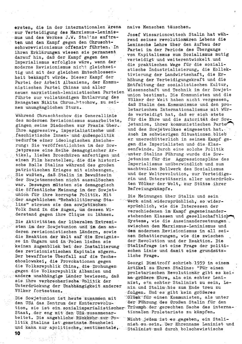 Roter Morgen, 4. Jg., Januar/Februar 1970, Seite 10