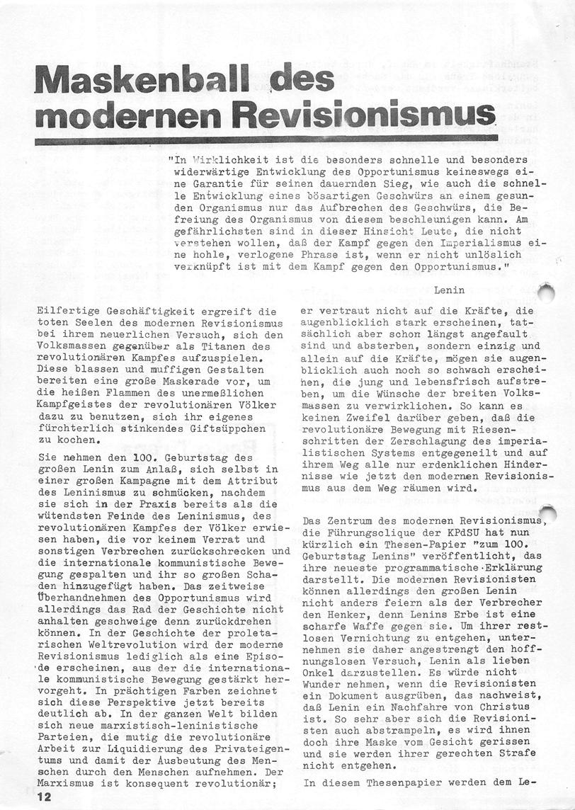 Roter Morgen, 4. Jg., Januar/Februar 1970, Seite 12
