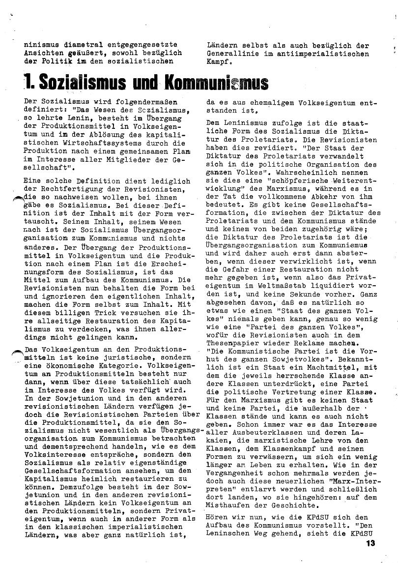 Roter Morgen, 4. Jg., Januar/Februar 1970, Seite 13