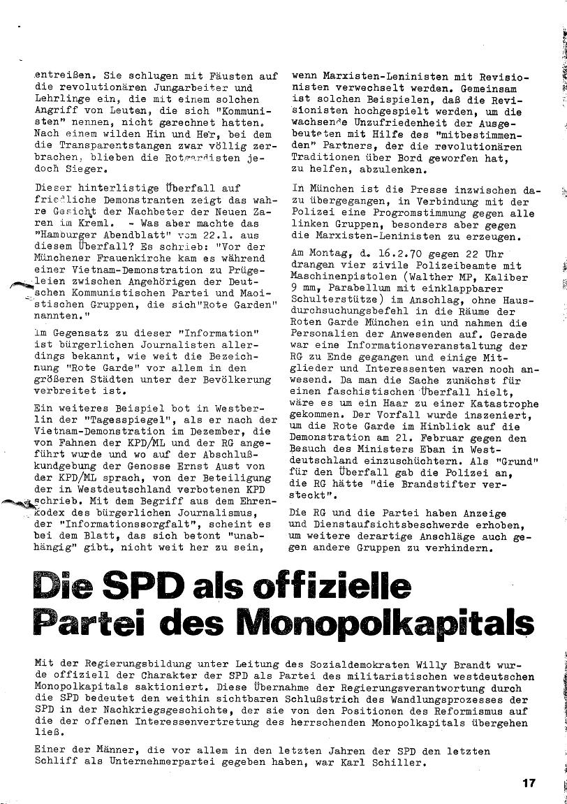 Roter Morgen, 4. Jg., Januar/Februar 1970, Seite 17