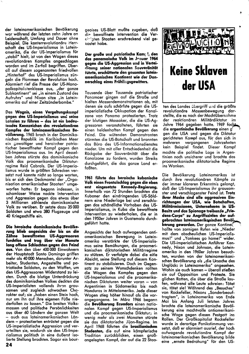 Roter Morgen, 4. Jg., Januar/Februar 1970, Seite 24