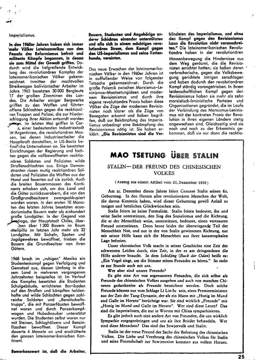 Roter Morgen, 4. Jg., Januar/Februar 1970, Seite 25