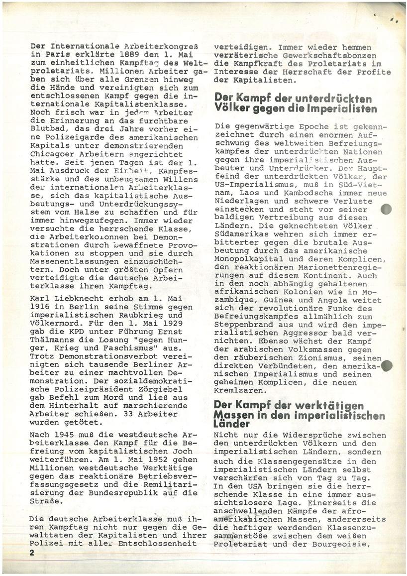 Roter Morgen, 4. Jg., Mai_Ausgabe 1970, Seite 2