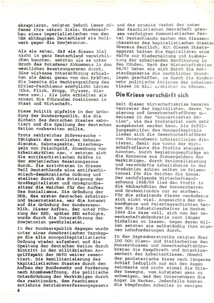 Roter Morgen, 4. Jg., Mai_Ausgabe 1970, Seite 4