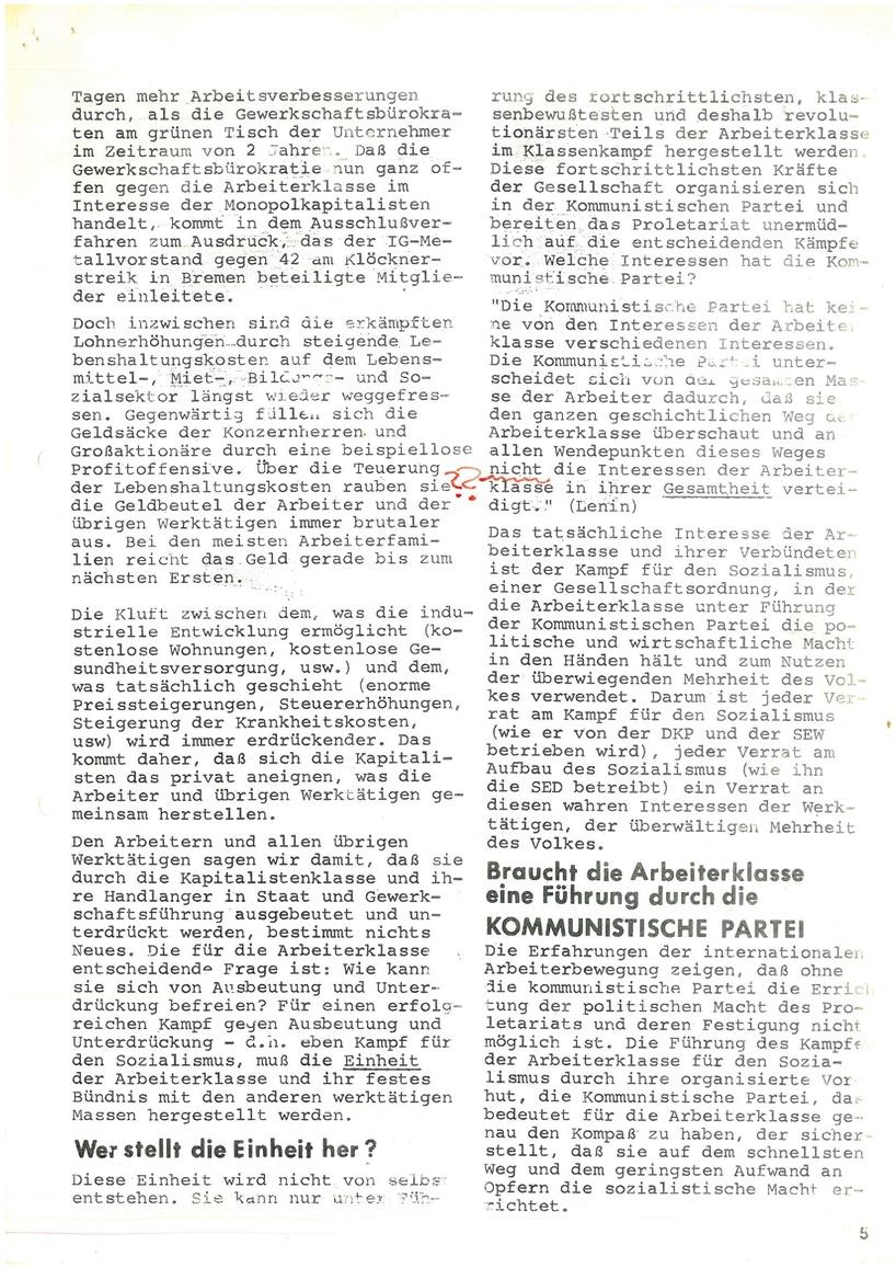 Roter Morgen, 4. Jg., Mai_Ausgabe 1970, Seite 5