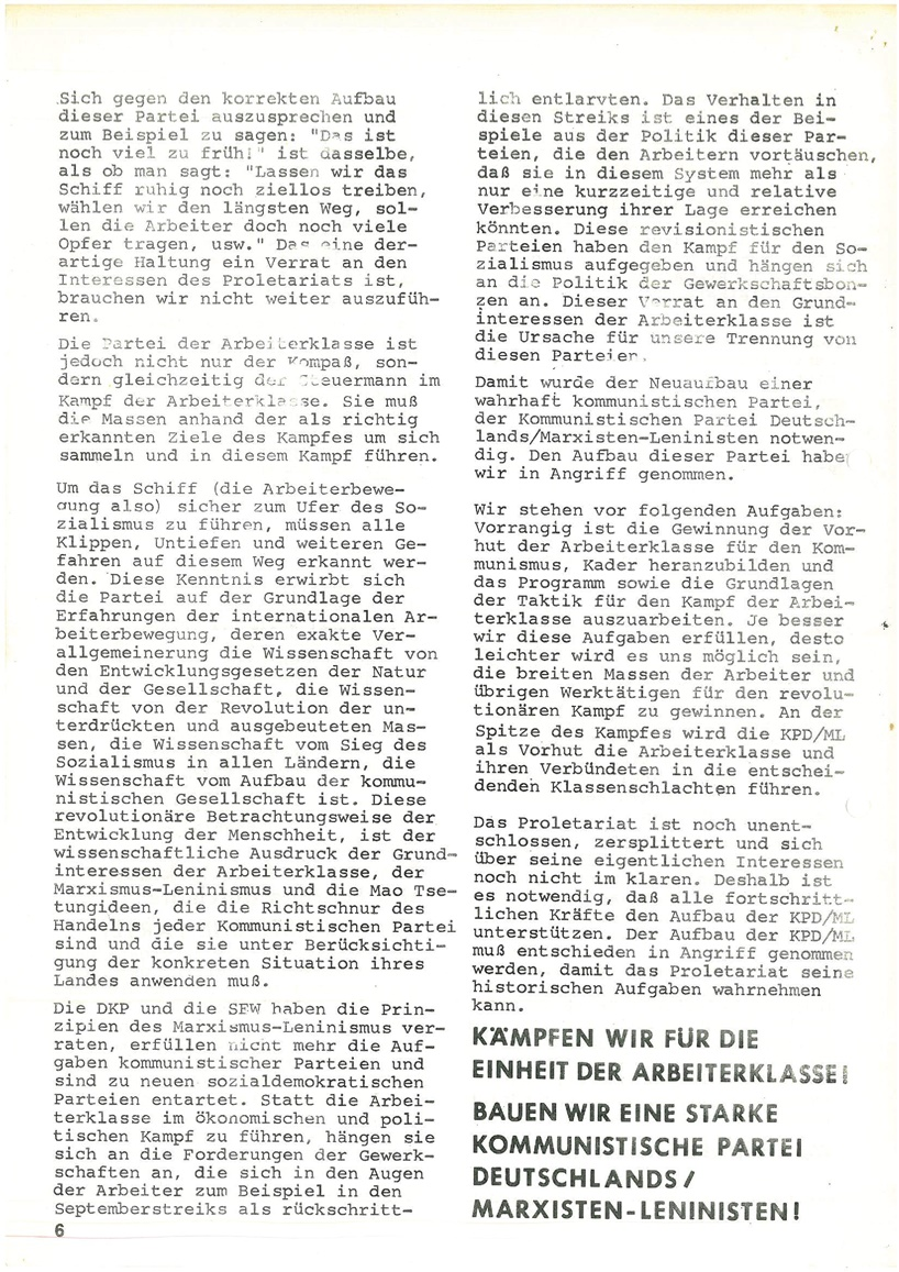 Roter Morgen, 4. Jg., Mai_Ausgabe 1970, Seite 6