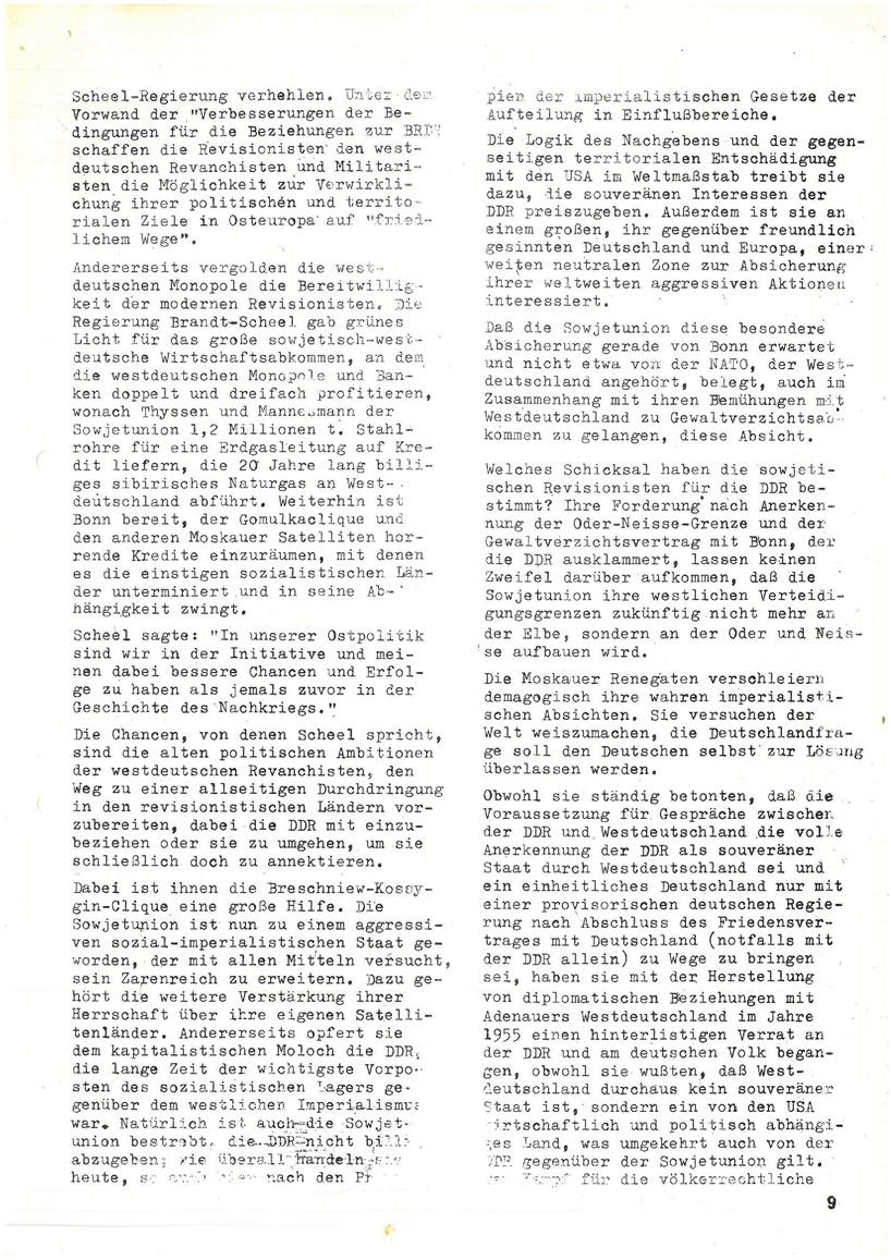Roter Morgen, 4. Jg., Mai_Ausgabe 1970, Seite 9