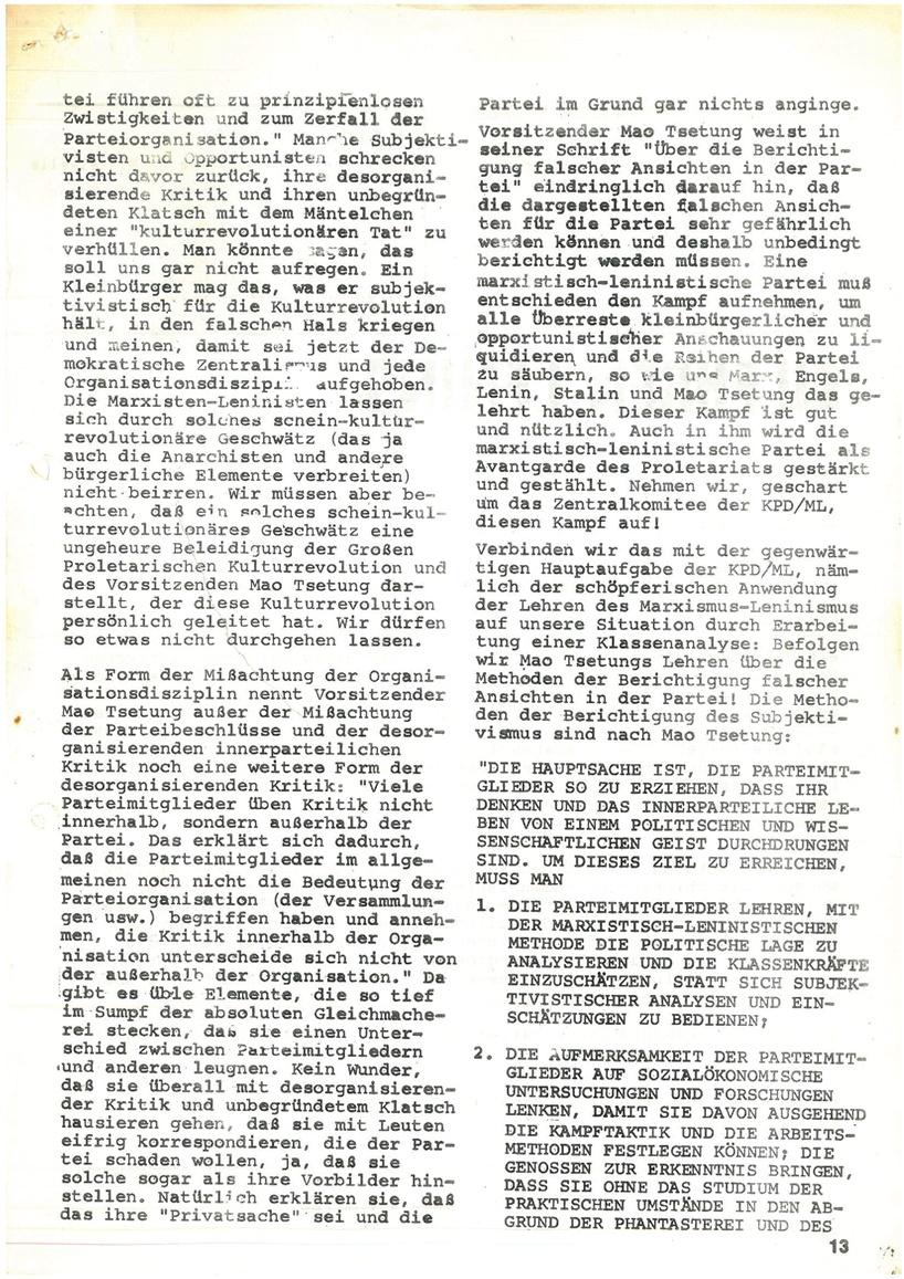 Roter Morgen, 4. Jg., Mai_Ausgabe 1970, Seite 13