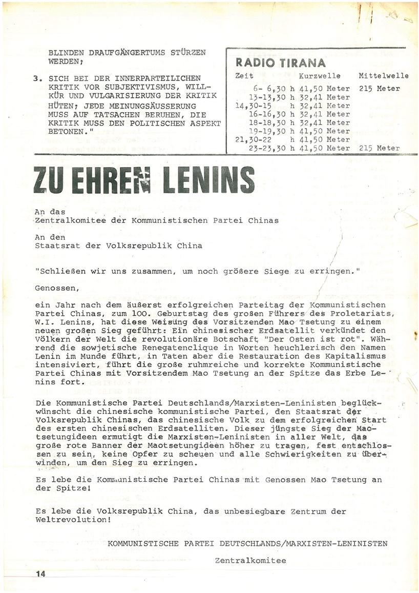 Roter Morgen, 4. Jg., Mai_Ausgabe 1970, Seite 14