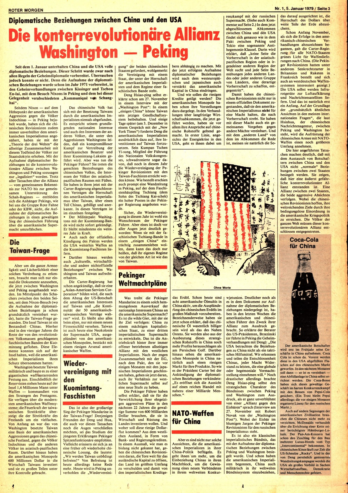 Roter Morgen, 13. Jg., 5. Januar 1979, Nr. 1, Seite 3