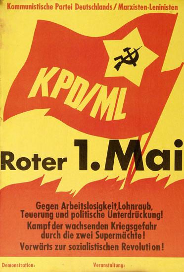 Roter 1. Mai! _ Plakat der KPD/ML (Roter Morgen)