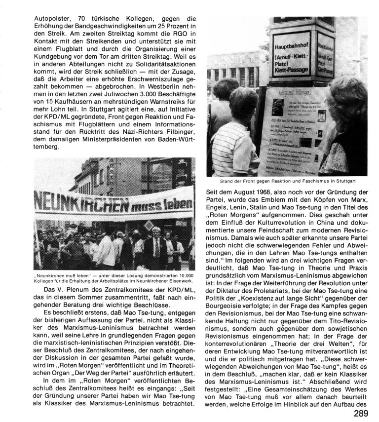 Zehn Jahre KPD/ML, Seite 289