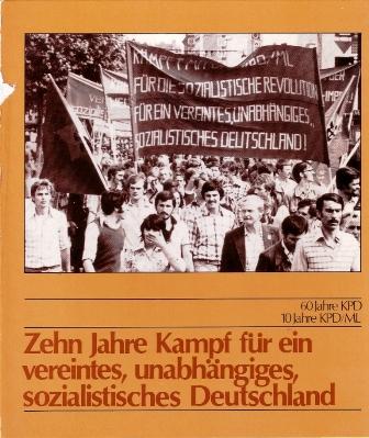 Zehn Jahre KPD/ML (Titelseite)