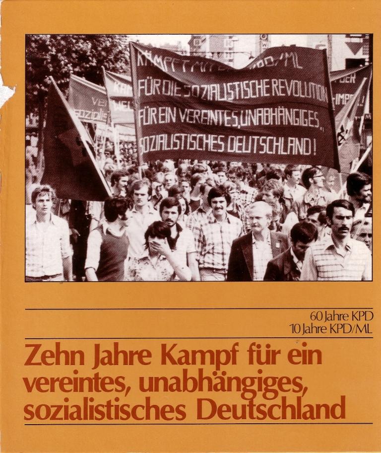 Zehn Jahre KPD/ML, Titelseite