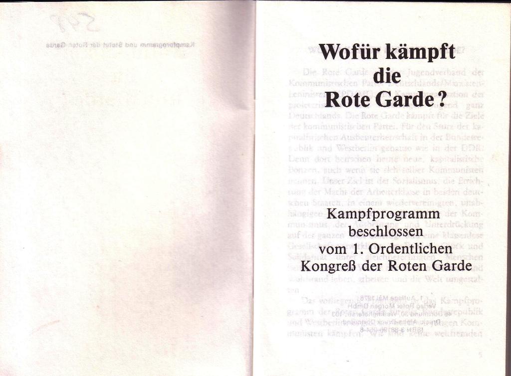 RG_Broschüre: Wofür kämpft die Rote Garde? (Mai 1978), Seite 2f.