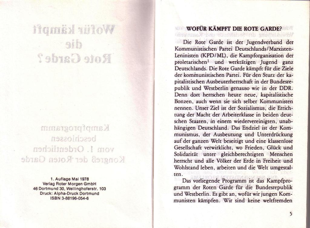 RG_Broschüre: Wofür kämpft die Rote Garde? (Mai 1978), Seite 4f.