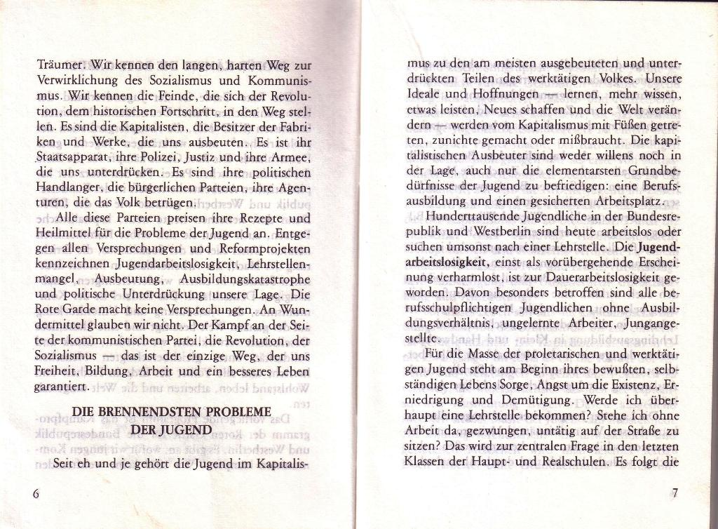 RG_Broschüre: Wofür kämpft die Rote Garde? (Mai 1978), Seite 6f.