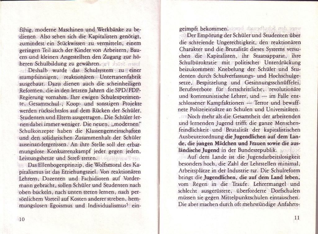 RG_Broschüre: Wofür kämpft die Rote Garde? (Mai 1978), Seite 10f.