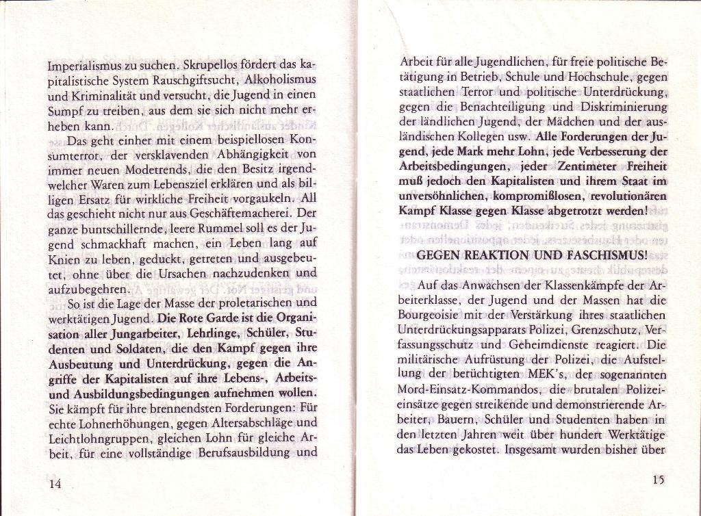 RG_Broschüre: Wofür kämpft die Rote Garde? (Mai 1978), Seite 14f.