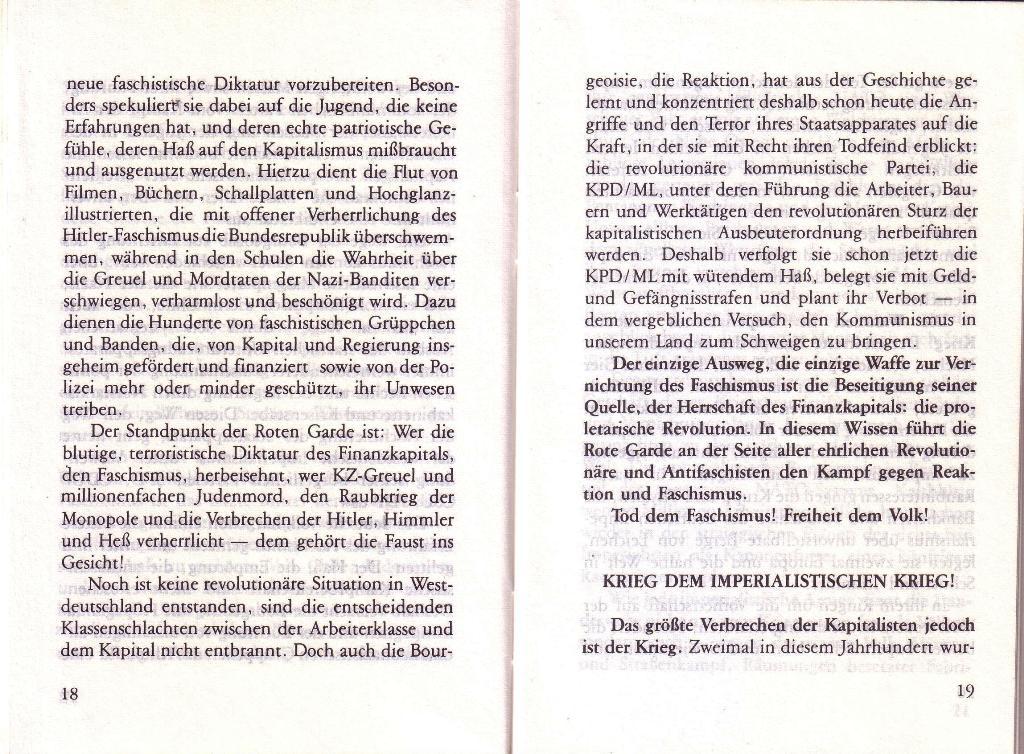 RG_Broschüre: Wofür kämpft die Rote Garde? (Mai 1978), Seite 18f.